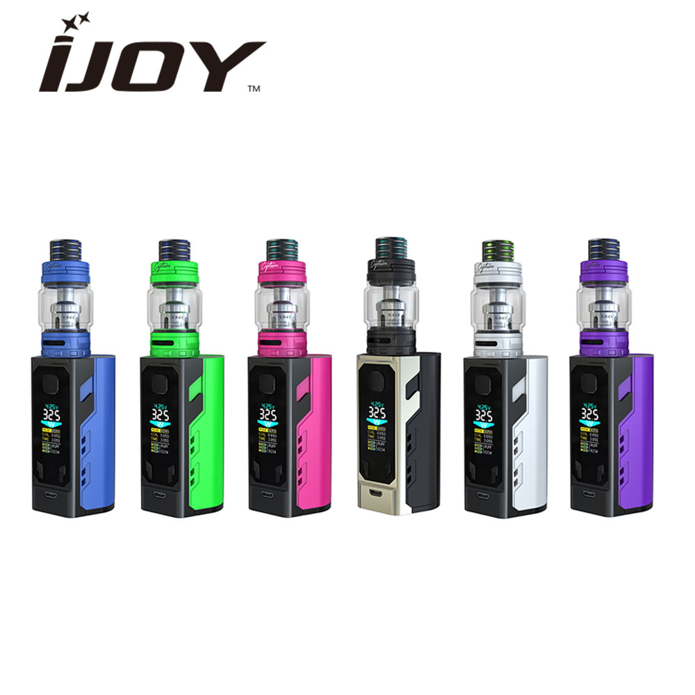Original IJOY Captain X3 Kit 324W E Cigs with 8ML Captain X3 Subohm Tank X3-C1 X3-C3 Coil NO Battery e cigarettes Vape Kit original ijoy saber 100 20700 vw kit max 100w saber 100 kit with diamond subohm tank 5 5ml