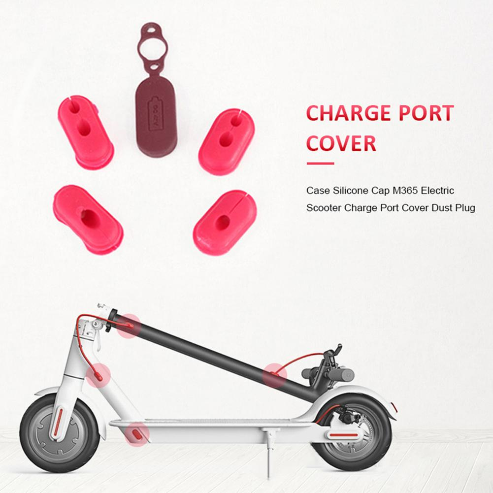 Electric Scooter Charging Port Dustproof Cover Plug Silicone Case Scooter Accessories For Xiaomi M365