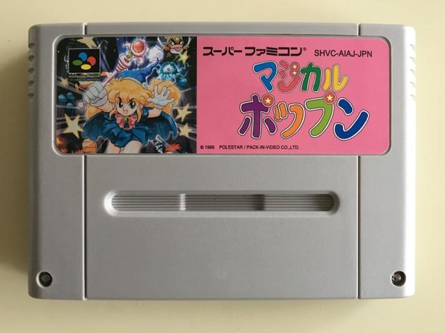 16Bit ゲーム * * 魔法 POPN (日本 NTSC J バージョン!! カートリッジのみ!!)