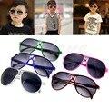 Moda bonito crianças menina menino bebê crianças ac lente pc quadro uv 400 óculos de sol new