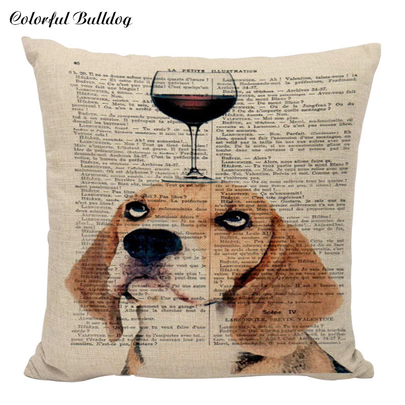 Terrific High Quality Cushion Cover Shabby Chic Dog Pillow Covers Gaming Chair 45X45Cm Cotton Linen Home Couch Seat Decorative Pillowcase Ncnpc Chair Design For Home Ncnpcorg