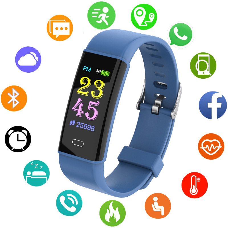 Bluetooth Smart Watch Children Kids Watches OLED Waterproof Bracelet Band Digital LED Sports Watch Child Wrist Clock Smart Band