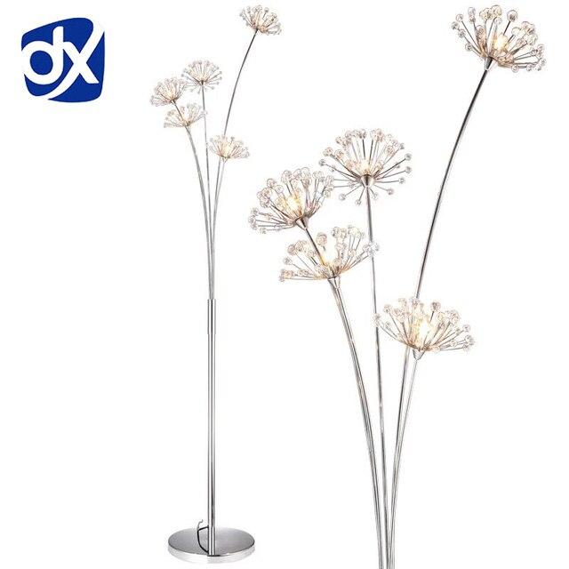 New Modern Crystal Floor Lamp For Living Room Flower