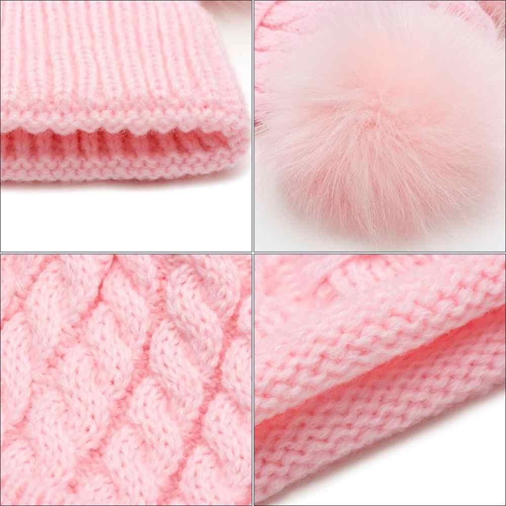 MOLIXINYU 2 PS 2019 หมวกเด็กหมวกผ้าพันคอถัก Winter ชุด 2 ปีหญิงผ้าฝ้ายฤดูหนาวเด็กหมวกผ้าพันคอ