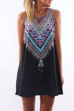 Hot summer print dress women robe sexy ropa mujer vestido robe style pretty style hippie clothes