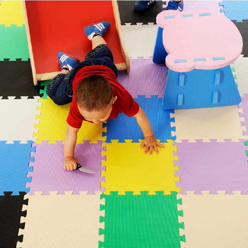 Lerhan детский игровой коврик, EVA пенопластовый детский коврик, блокировка упражнений ползать плитки, Напольный пазл ковер для детей, каждый 32x32 см