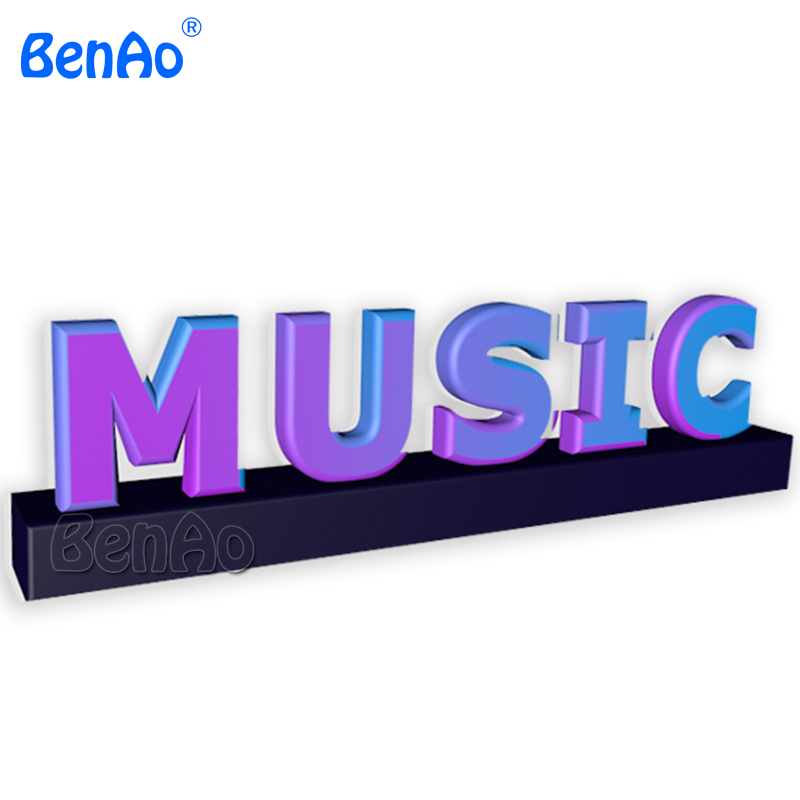 AA018 BENAO Free shipping Customized Advertising Giant Inflatable Letters ,Inflatable music letters replica for advertising ...