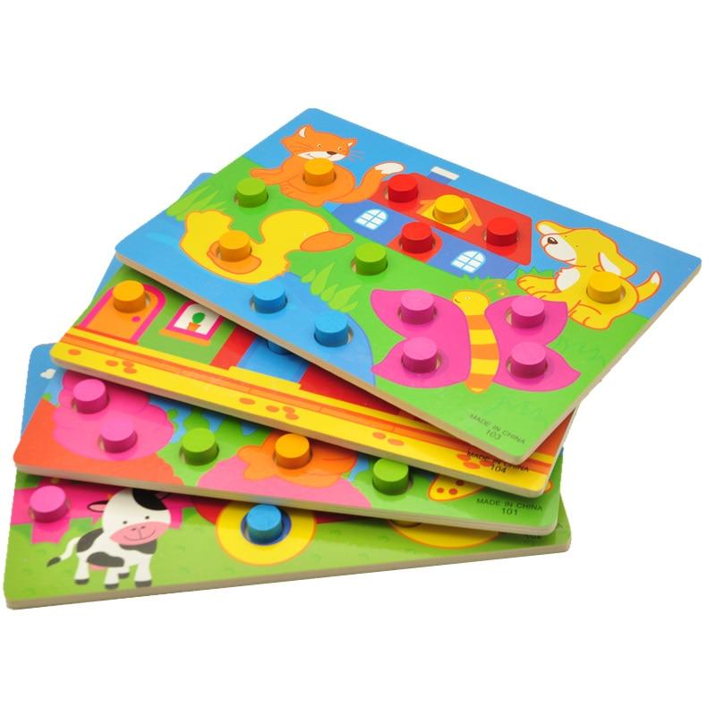 Träleksaker Tangram / Jigsaw Board Cartoon Puzzle Jigsaw Kids Early - Spel och pussel - Foto 5
