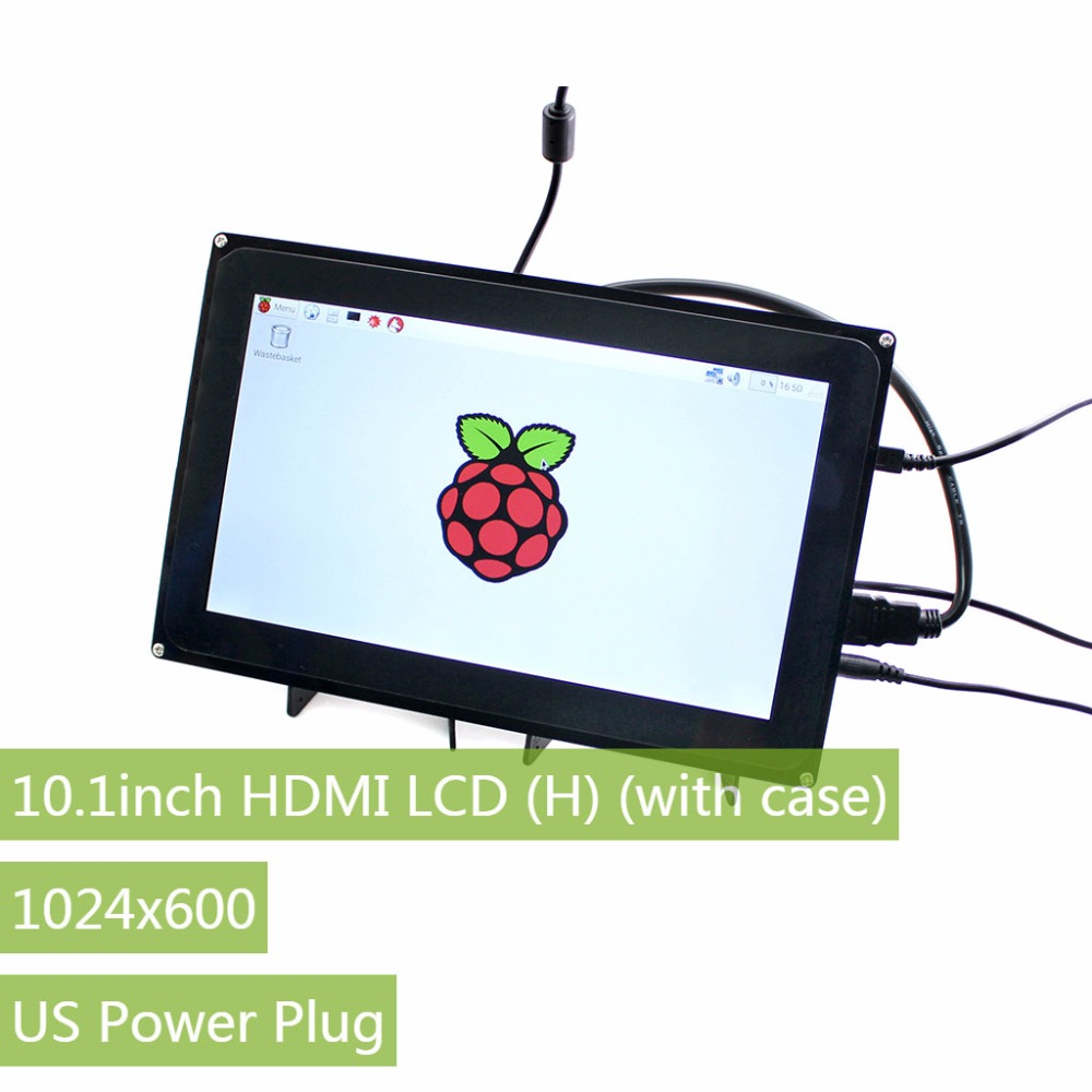 Raspberry Pi 3 Display 10.1 inch 1024x600 Capacitive Touch Screen LCD (H) with case,Support Multi mini PC,Windows 10/8.1/8/7/XP-in Demo Board from Computer & Office