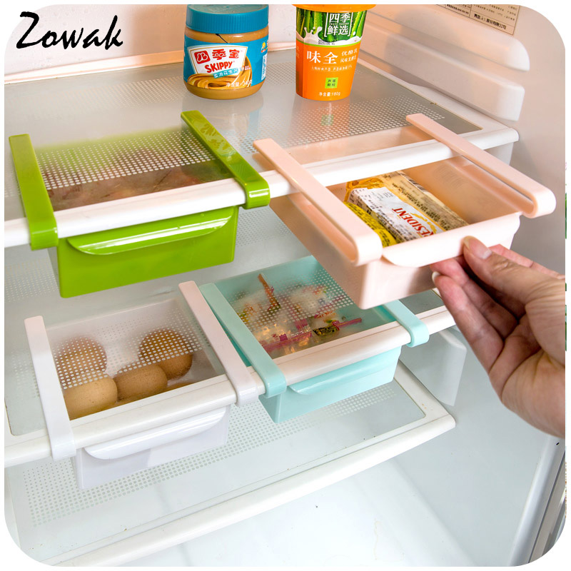 Fridge Organizer Refrigerator Freezer Storage Tray Kitchen Organizer Preservation Layer Desk Table Organizer Drawer Organization