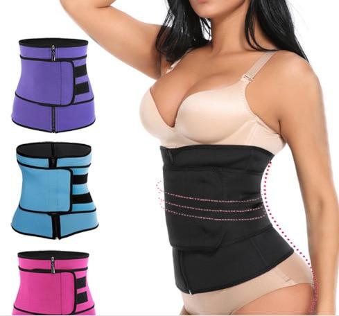 Shaping belt hook and loop zipper abdominal belt waist belt postpartum sports plastic belt sweat plastic belt I0708