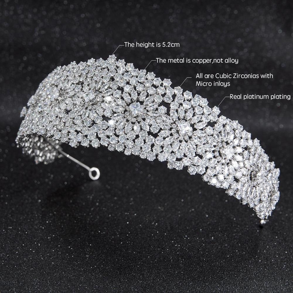 2019 nowy kryształ cyrkonia Bridal ślubnej miękki pałąk Hairband Tiara włosów biżuteria akcesoria treski CHA10024 w Biżuteria do włosów od Biżuteria i akcesoria na  Grupa 2