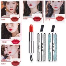 Professional Matte Lipstick Makeup Waterproof Red Black Velvet Lipstick Moisturizing Glitter Lip Gloss Cosmetic Beauty Lip Tint 811 cosmetic charming moisturizing lipstick red