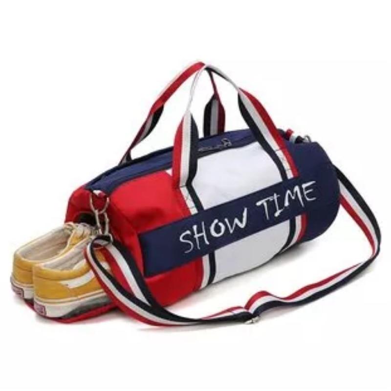 <+>  Разделение сухих и мокрых вещей Фитнес-сумка Цилиндр непромокаемая дорожная спортивная спортивная су ①