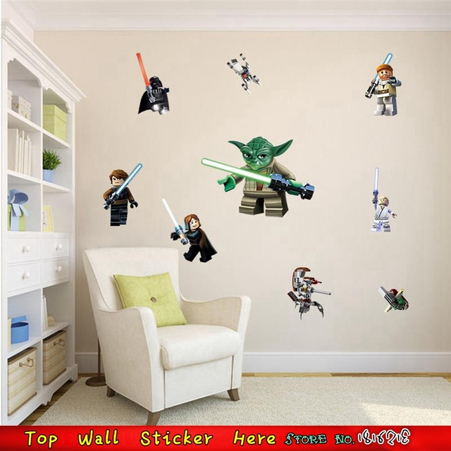 Yoda Star Wars Design Movie Poster 3D Wall Paper Stickers For Kids ...