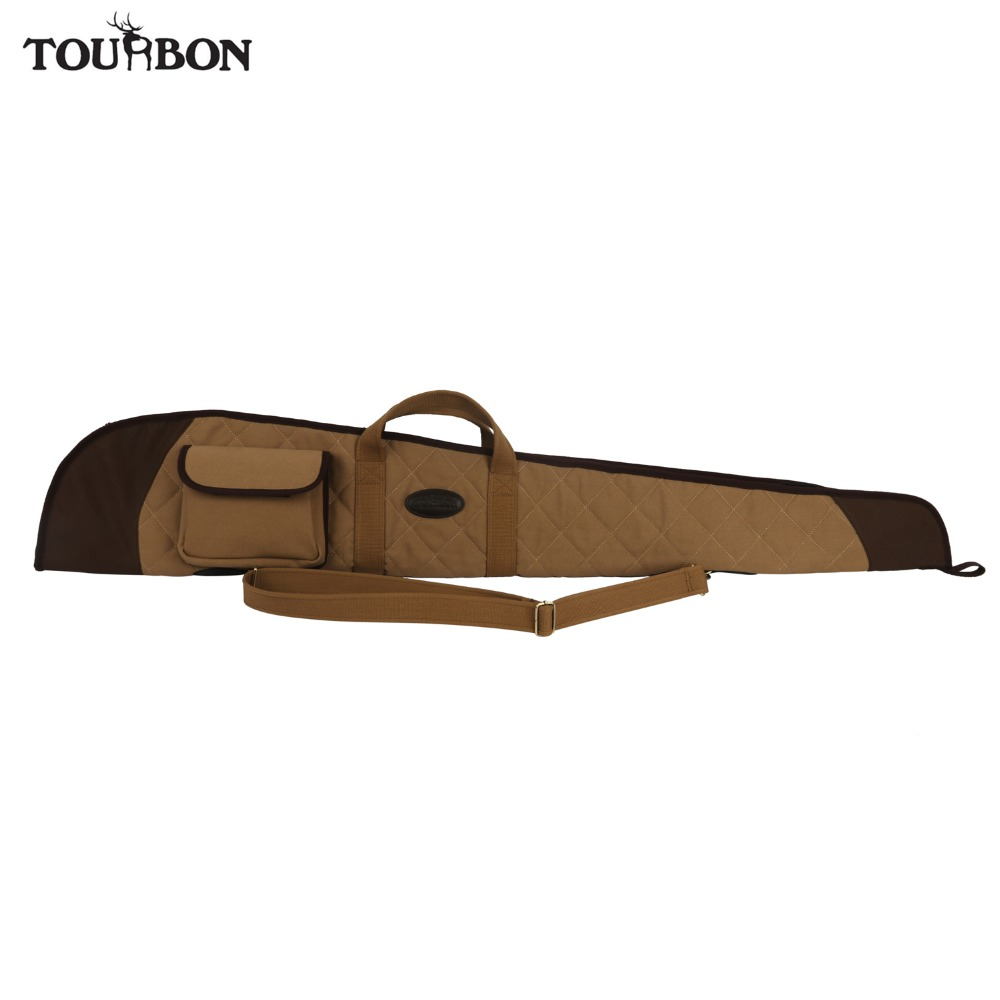 Tourbon Tactical Shotgun Case Bag Soft Padded Slip Airsoft Gun Carrying w Gun Protection Bags 130CM