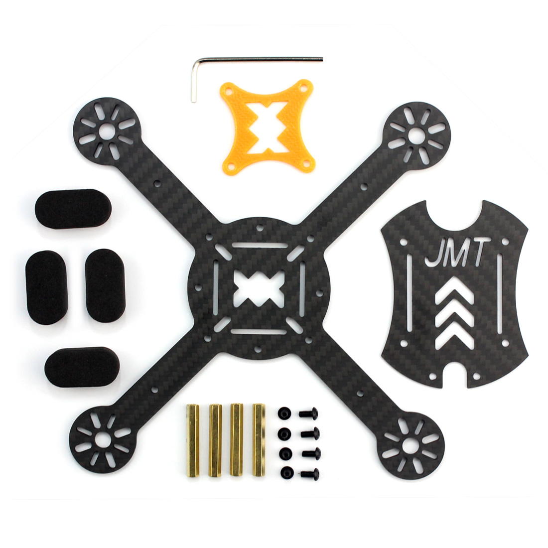 JMT X180 DIY Quadcopter PNP Assembled Racer Kit 180mm Super Light Mini RC Racing Drone with OSD FPV HD Camera NO RX TX Battery