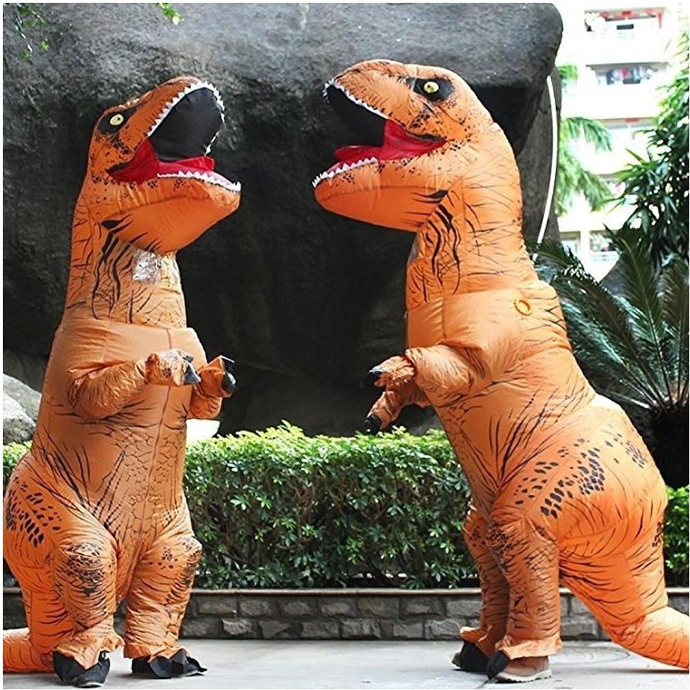 Halloween Newest Inflatable Dinosaur T REX Costume Jurassic World Park Blowup Dinosaur Cosplay Inflatable Costume Party Hallowee