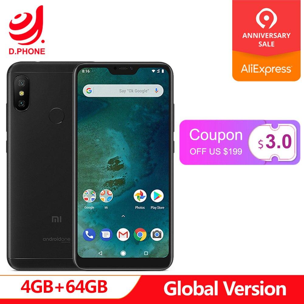 Version originale mondiale Xiao mi A2 Lite 4 GB 64 GB téléphone Mobile Snapdragon 625 Octa Core 5.84