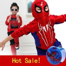 Spiderman Enfants Garçons Vêtements 3 pcs/ensemble manteau + gilet + pantalon Vêtements ensemble Bébé Garçon Sport Costumes 2-6 ans Enfants Vêtements Survêtements