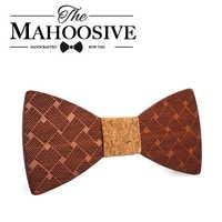Mahoosive Wooden Bow Ties For men Clothing wood Accessories Solid Color Bowknot Gravatas Slim Cravat Jewelry