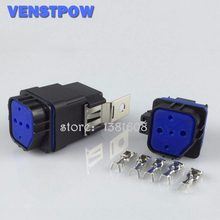 1PC 40A 12V 5 Pins Full Waterproof DIY Car Truck Relay Iron Backrest + Waterproof Socket without wire(China)