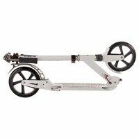 Взрослый алюминиевый складной скутер двойной амортизационный скутер 200 мм Диаметр колеса белый черный