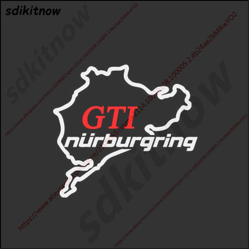 14x15cm GTI Nurburgring Sticker Sports Racing Windows Decal Car Styling For Volkswagen VW Skoda Polo Golf JETTA PASSAT MK 4 5 6