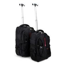 Hot sale army bag laptop backpack men rolling luggage trolley travel bag