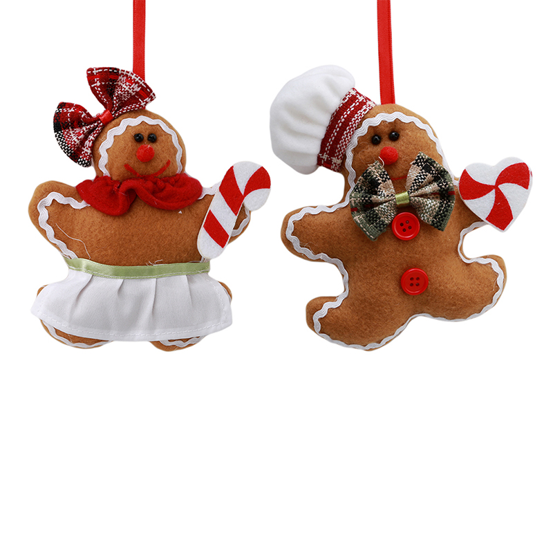 1 pc christmas gingerbread man ornaments festival xmas tree hanging decoration crutches love type christmas pendant gift 975811 in pendant drop ornaments