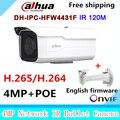 Original Dahua DH-IPC-HFW4431F 4MP Network HD WDR Small IR Bullet H265 H264 Camera CCTV IP 1080P IPC-HFW4431F with bracket