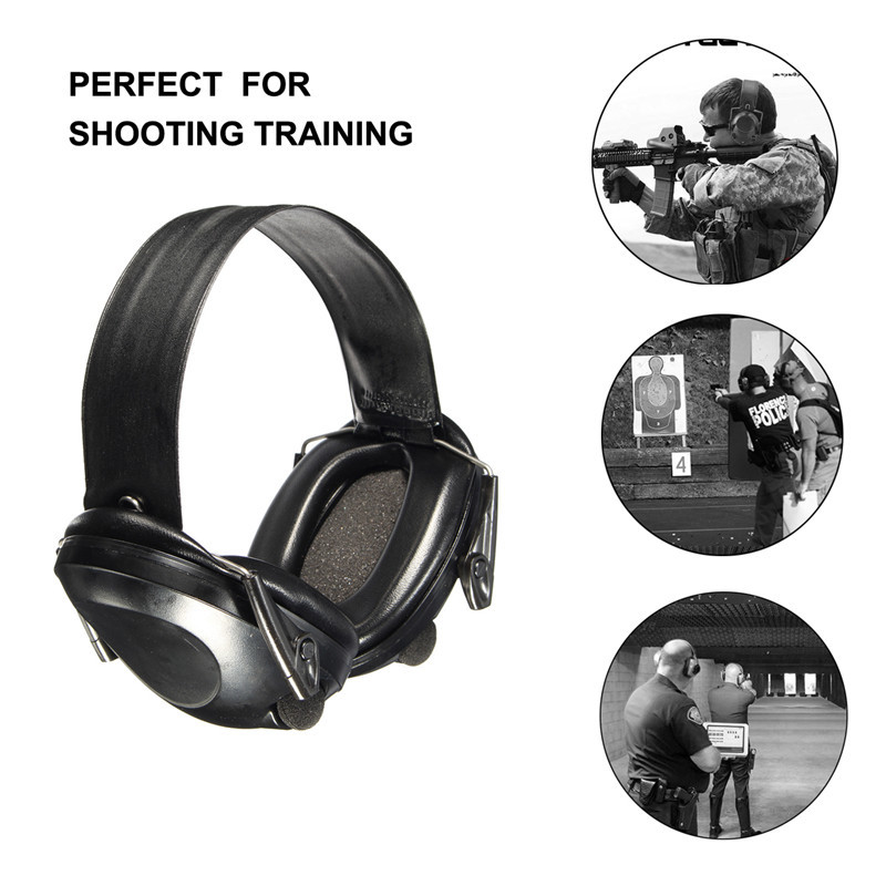 New Anti-noise Impact Sport Hunting Electronic Tactical Earmuff Shooting Ear Protectors Hearing Protection Earmuffs leshp tactical sport headphones for hunting shooting sport noise tac 6s hearing protector earmuffs folding protection