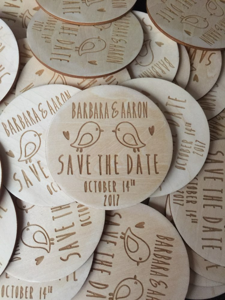 Personalized Wooden Save The Date Magnets Rustic Wedding Favors With Birds Fridge Magnet Invitation In Party From Home