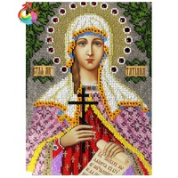 Hobby Crafts Diamond Pattern Paintings Rhinestones Mosaic Diamond Embroidery Religion 5d Diamond Painting Mosaic Painting Icon