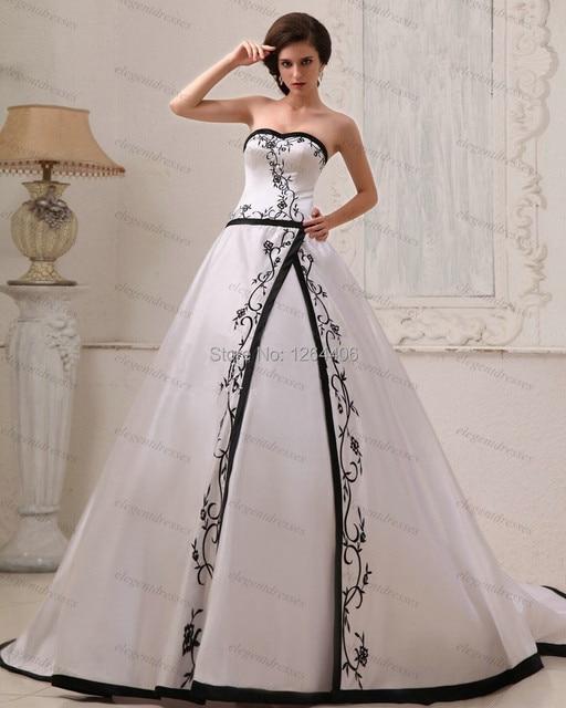 Hot Sale Bridal Dress Bridal Gown Black And White Wedding Dress ...
