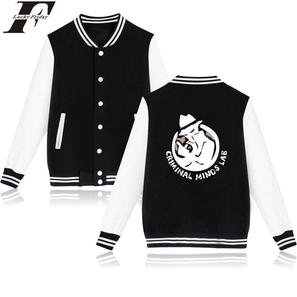 LUCKYFRIDAYF Criminal Minds Baseball font b Jacket b font American TV Shows Female Sweatshirt Plus Coat
