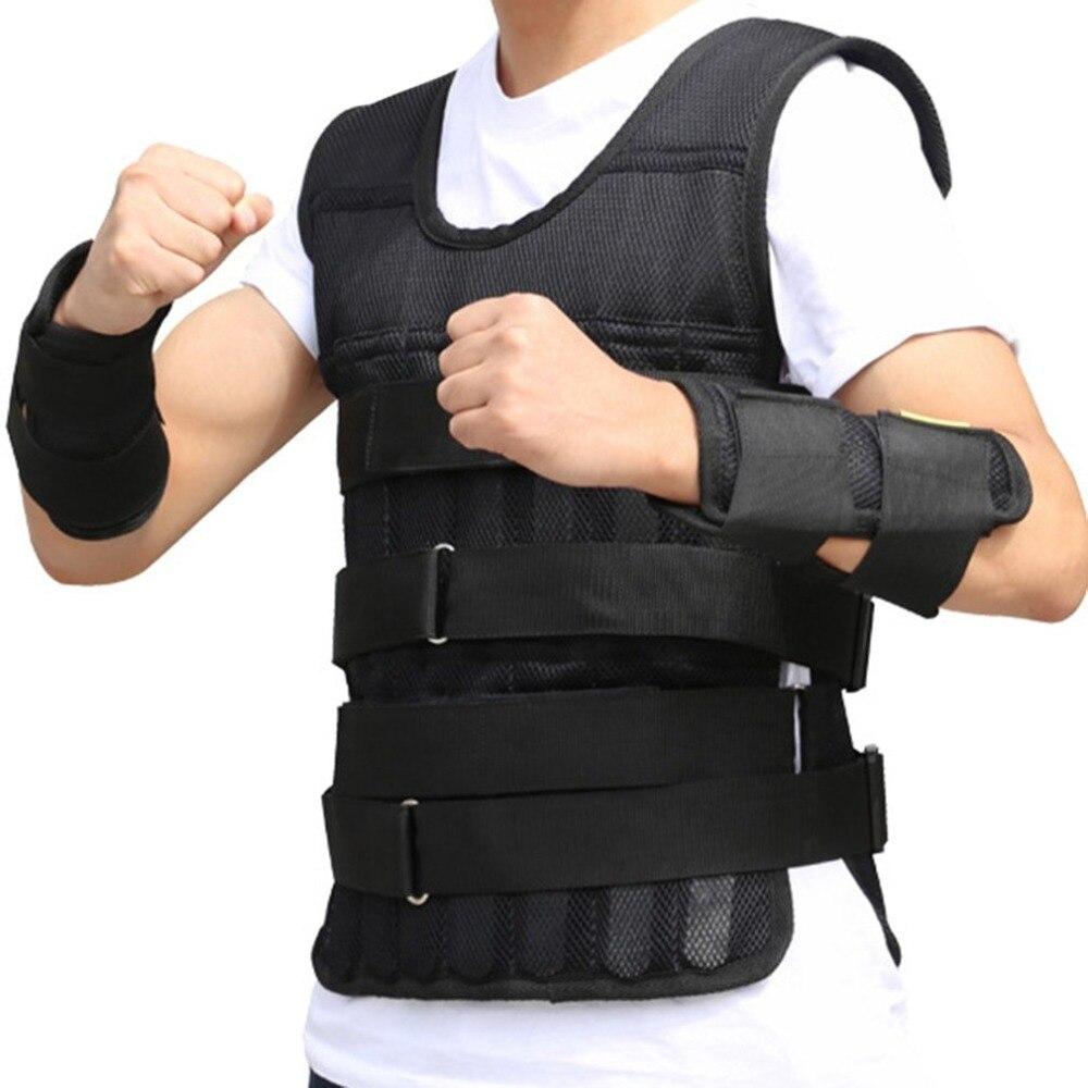 15kg 20kg 50kg Loading Weighted Vest For Boxing Training Equipment Adjustable Exercise Black Jacket Swat Sanda Sparring Protect