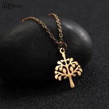 My Shape Stainless Steel Gold and Silver Tree o Life Pendant Custom Jewelry Womens Wholesale Choker Necklaces