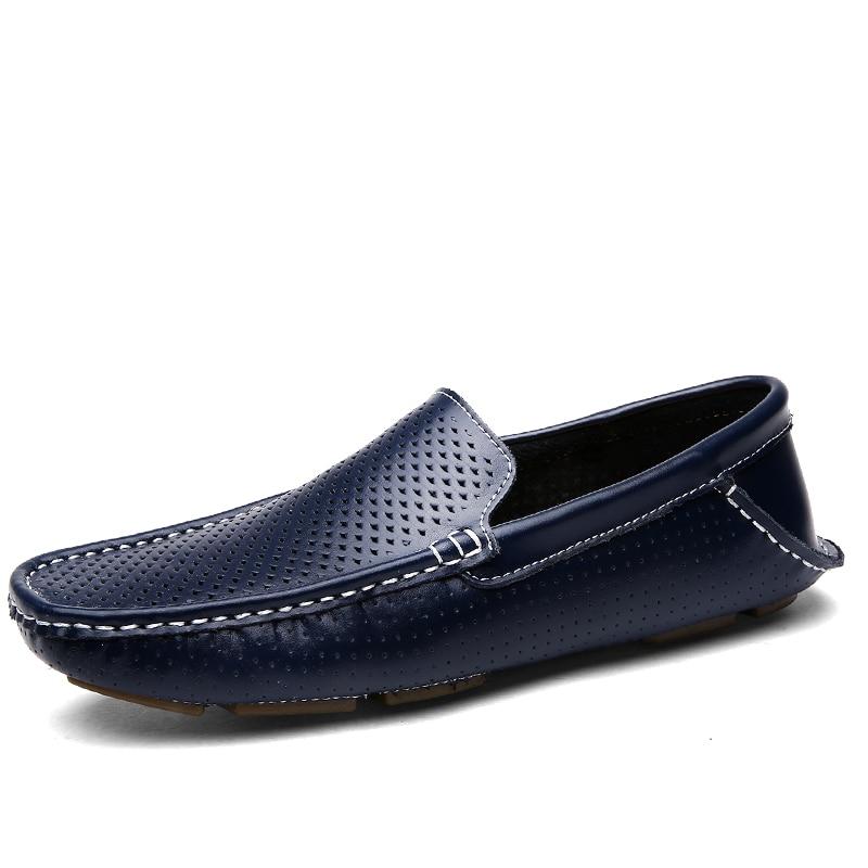 Sur Slip D'été brown blue Respirant Hommes Chaussures Black Mocassins Casual Nouveau wf0Xwq