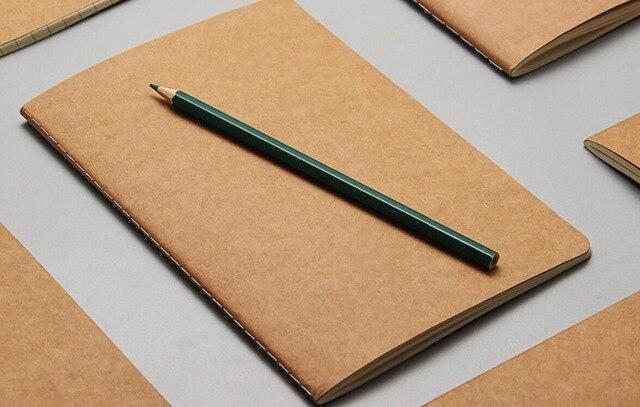 aliexpress com buy a5 kraft cover notebook dot grid paper blank