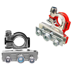 2Pcs 12V Copper Car Battery Terminal Connector Battery Quick Release Battery Clamps for most vehicles(China)