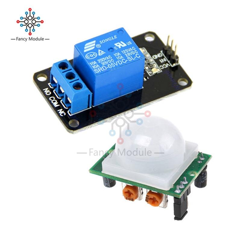HC-SR501 SR501 Human Infrared Pyroelectr Sensor PIR + 5V 1 Channel Relay Module jewelry making