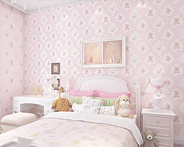 Cute Little Bear Design Home Wallpaper 3d Kids Room Wallpapers With