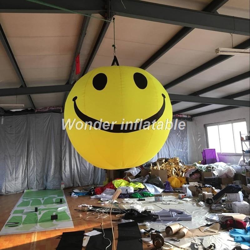 LED Освещение желтый надувной улыбка Уход за кожей лица шар висит модель для вечерние украшения
