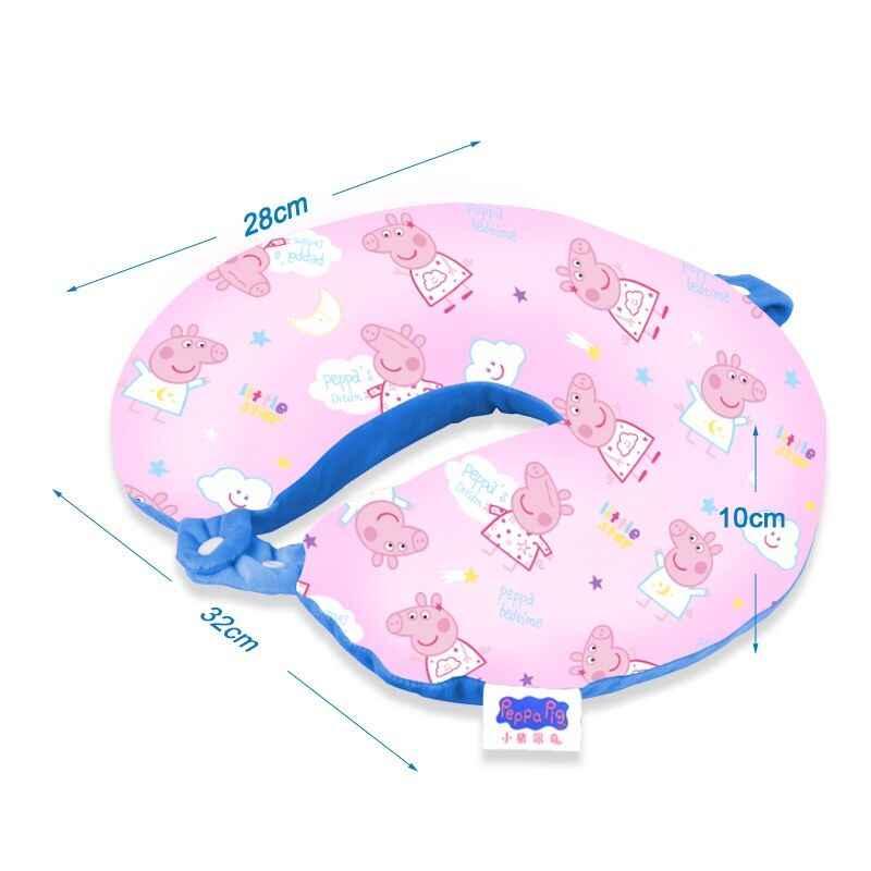 2019 Genuíno Novo Peppa Pig forma mutável/tamanho Boneca de pelúcia George alta qualidade Animal do tipo U travesseiro das Crianças brinquedo 3-6-10years