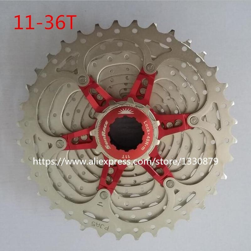 цена на Sunrace 11-36T Road Bicycle Freewheel Bike Cassette 11 Speed cycling flywheel Bicycle Parts CSRX1 freewheel