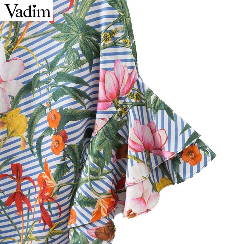 HTB12N54QFXXXXXtaXXXq6xXFXXXB - Women sweet ruffles loose floral shirts short sleeve