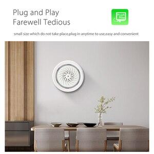 Image 4 - SMARSECUR Smart Wireless WiFi Siren Alarm Sensor USB Power tuya samrt life temperature and  humidity sensor