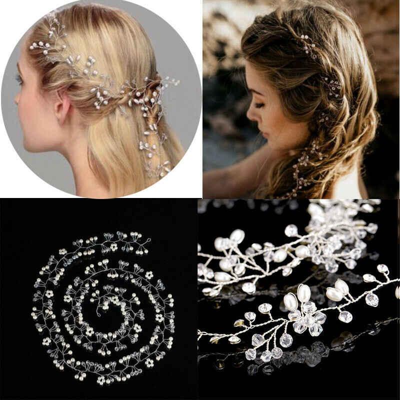 Vrouwen Parel Bruiloft Hoofddeksels Meisjes Haar Wijnstok Kristal Bridal Diamante Hoofdbanden Accessoires Hot Cosplay Party Haar Vermomd