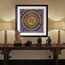 Tibetischen thangka mandala kunst gemälde thangka buddha religion glaube wohnkultur kultur spirituelle leinwand malerei kunst